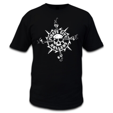 Compass Mens T-Shirt - Pirate City Rollers